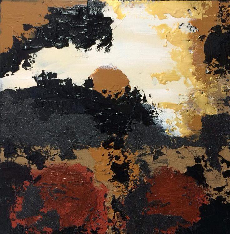 Art abstrait, acrylique, texture, medium mixte