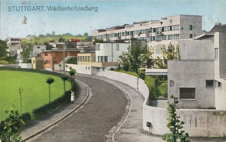 Wei enhofsiedlung stuttgart 1927 fotograf unbekannt for Villas weissenhofsiedlung