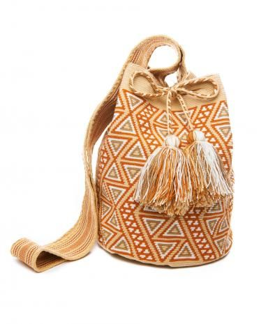 Miss  Mochila  Sand Cartagena Mochila Tassel Bag