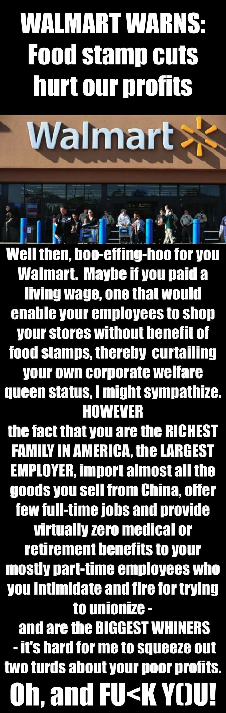 Find This Pin And More On **living Wages  Mainly Walmart + Others