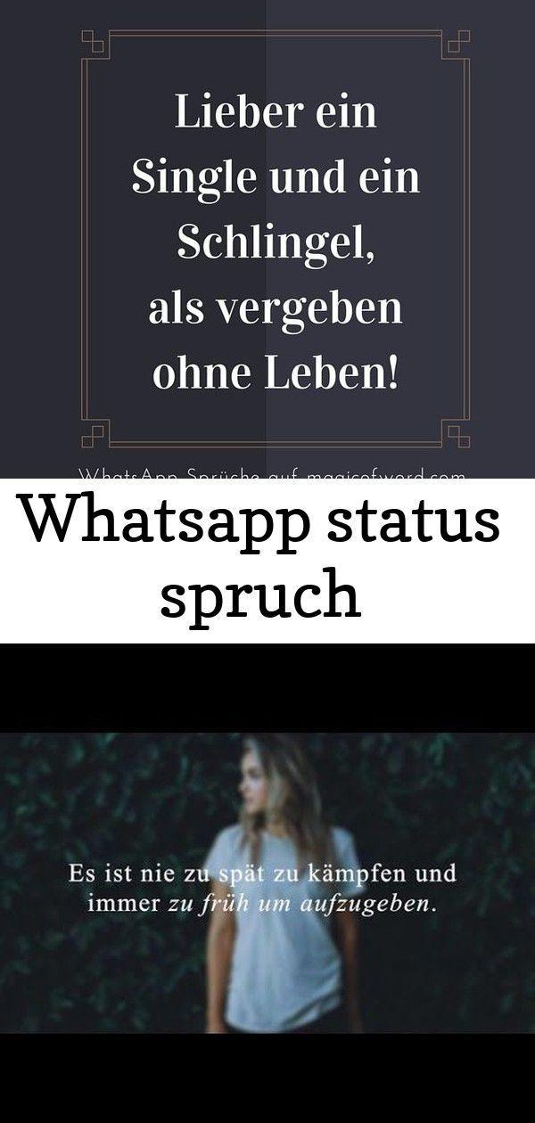whatsapp status spruch