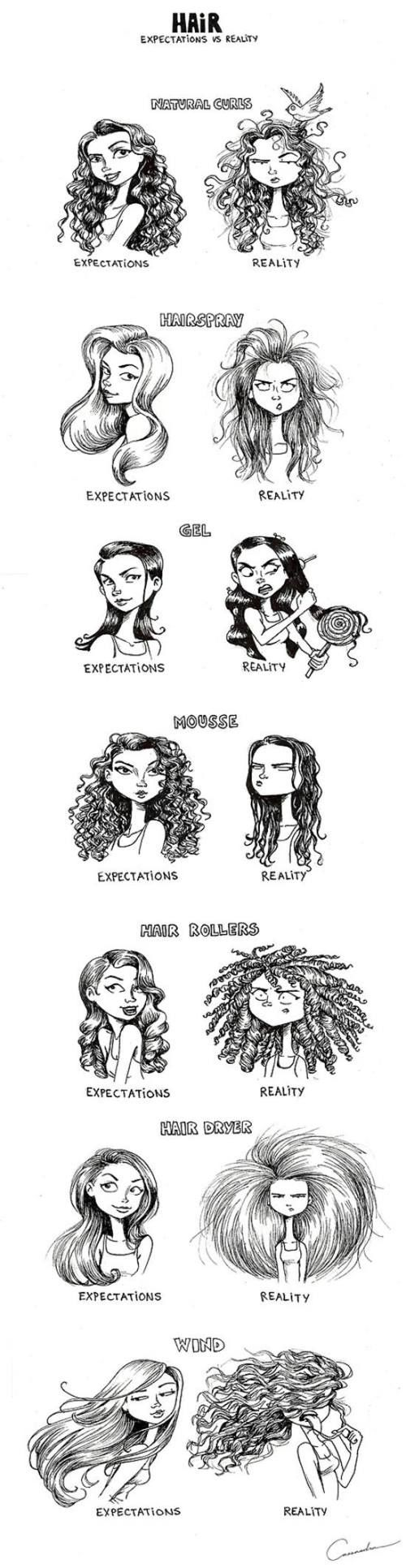 Hair expectations.