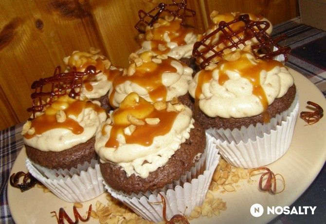 Mogyoróvajas brownie muffin
