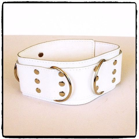 White Leather Collar – Lady Kink