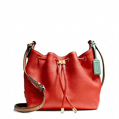 SOFT LEGACY DRAWSTRING CROSSBODY IN PEBBLED LEATHER