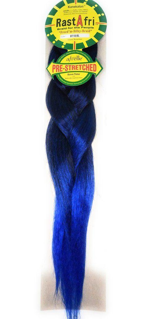 Rastafri Freed M Silky Braid Pre Stretched 1b Blue Beauty Supply Braids Ombre Color