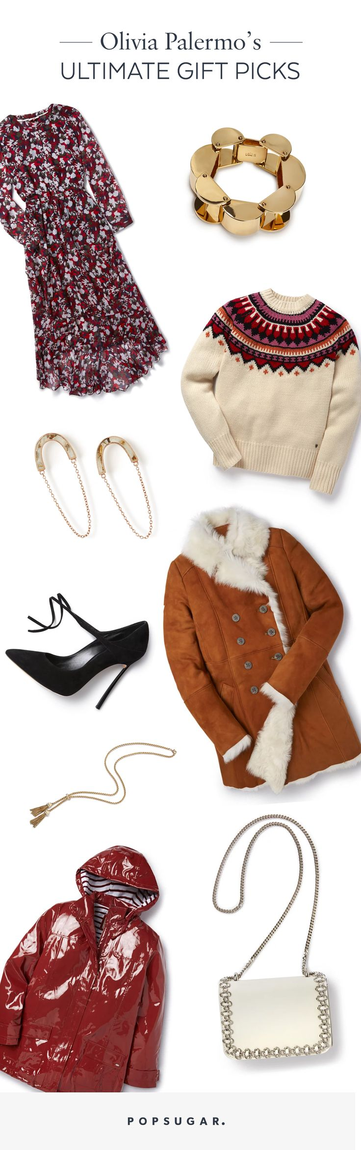 Olivia Palermo gives Popsugar have favourite jewelry, accessories and fashion clothes gift picks on her christmas list