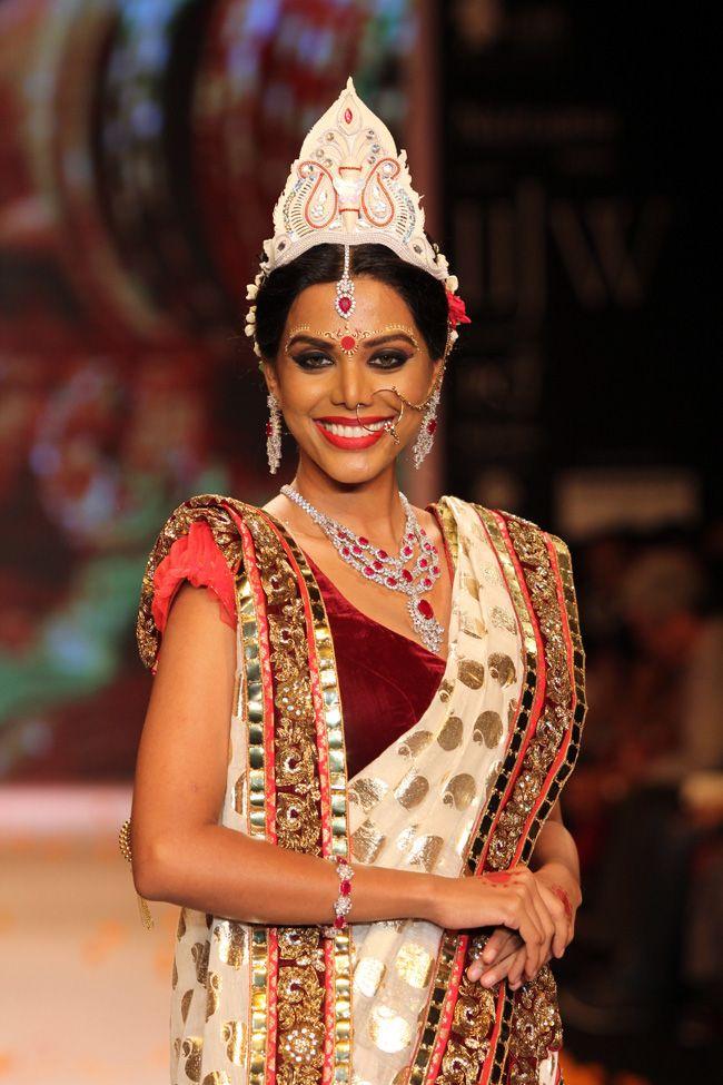 how to wear bengali saree in hindi