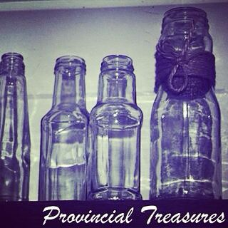 Never enough interesting glass bottles and jars. There is always room for just one more!