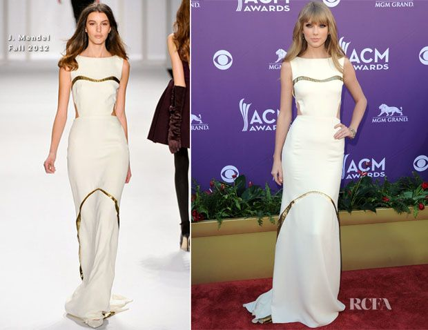 Taylor Swift In J. Mendel – 2012 Academy Of Country Music Awards