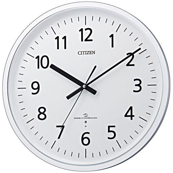 CITIZEN(シチズン)掛け時計|シチズン CITIZEN 掛け時計 スリー ... シンプルで見やすい文字盤の大型掛け時計(直径38センチ)です。 電波を受けにくい所でも、このシチズン独自のスリーウェイブならラジオのAM波が入れば、時計用の ...