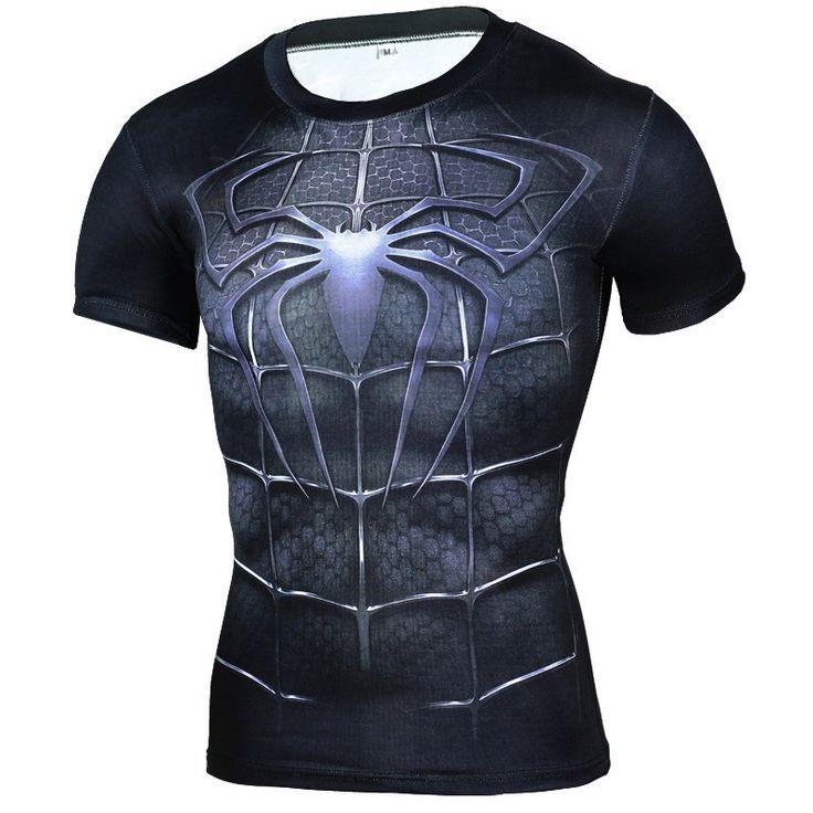 Marque Vêtements 2016 Super-Héros De Compression Chemise 3D Captain America Punisher Superman T Shirt Bodybuilding Crossfit t-shirt