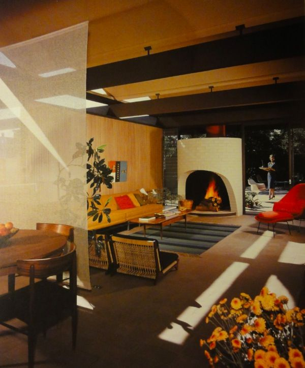 Mid Century Modern, Living Rooms, Study House, Cases Study, American House, Modern Architecture, 20Th Century, Modern Interiors, Midcentury