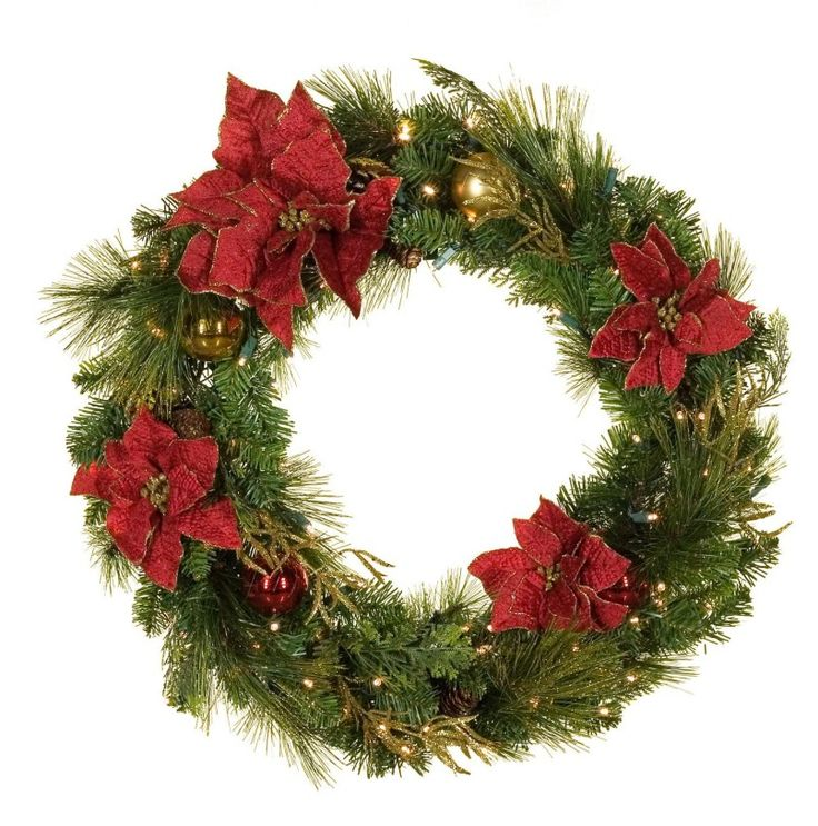 16 best wreath ideas for christmas images on pinterest Outdoor christmas garland ideas