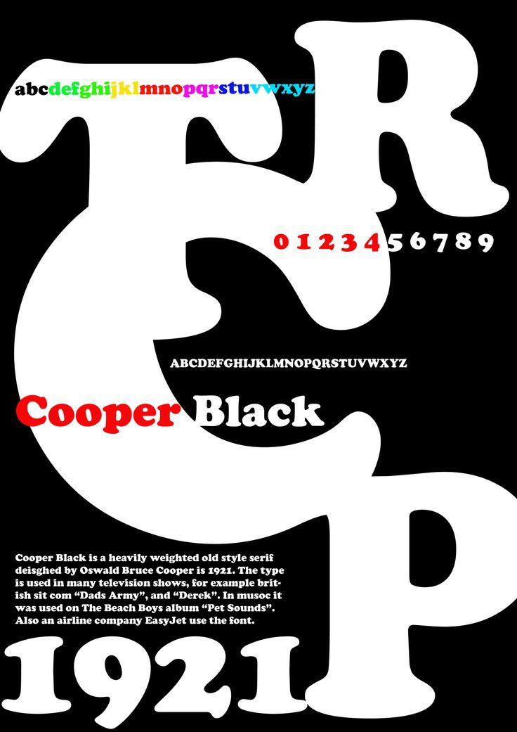 Cooper Black Typography