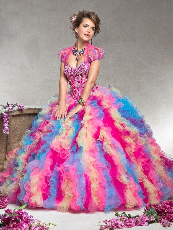 Ball Gown Sweetheart Sleeveless Rhinestone Floor-Length Tulle Quinceanera Dresses