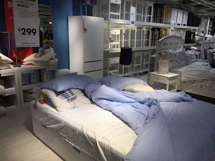IKEA - NORDLI bed w/ storage 160 x 200 EU mattress Is in the Wembley store but not online :-(