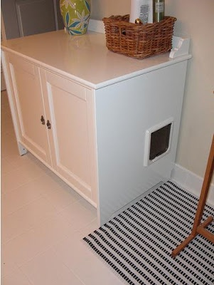 Cat litter boxes litter box and ikea hackers on pinterest for Ikea litter box