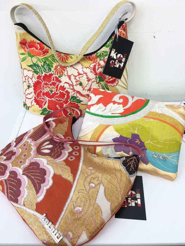 Koi Girl Japanese Fabric Handmade Bags