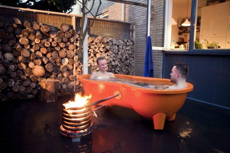 Lekker buiten in bad met de Dutchtub