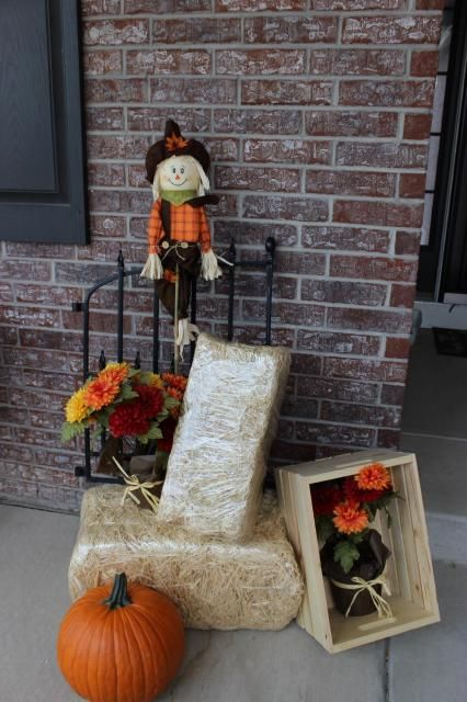 Fall Porch Decorations - Kathe With An E