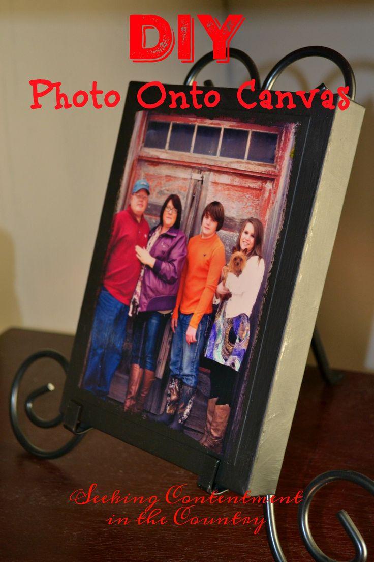 Easy DIY Photo onto Canvas