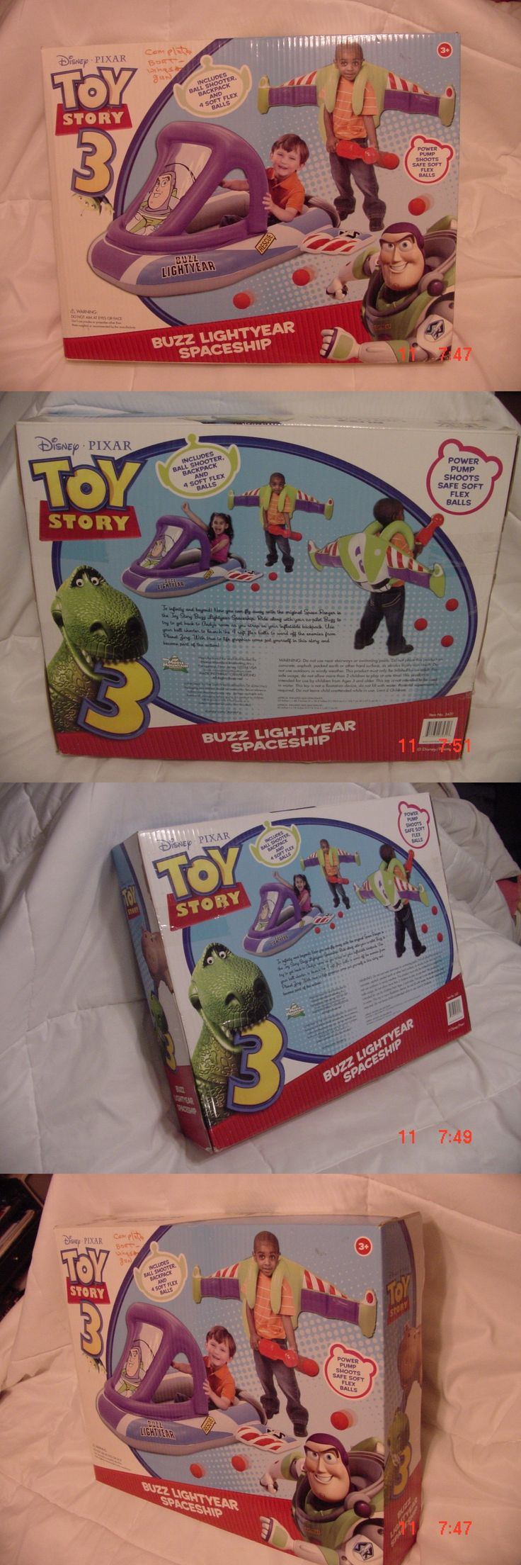 Toy story of terror 1 2 3 buzz lightyear of star command for sale - Toy Story 19223 Buzz Lightyear Spaceship Includes Ball Shooter Backpack And Rescue Ship