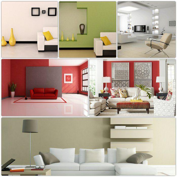 wandgestaltung wohnzimmer rot ideen:Wohnzimmer Wände Streichen Ideen Wohnzimmer