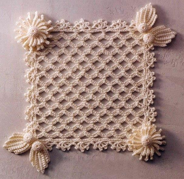 lace-crochet-square... Free diagrams for making!