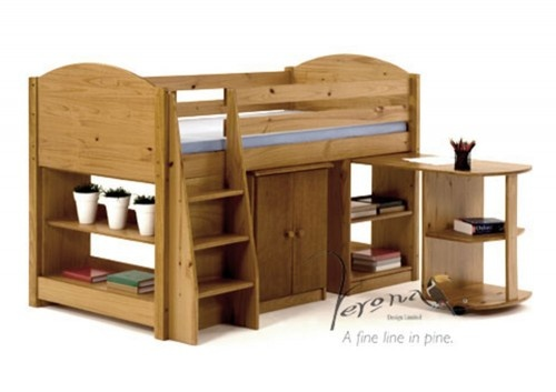 Maximus Mid Sleeper includes Chest of Drawers-Pull Out Desk and Bookcase