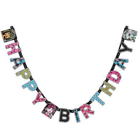 Free Shipping on orders over $35. Buy Monster High Birthday Party Banner, Party Supplies at Walmart.com