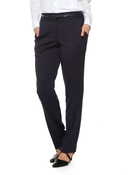 Oliver Black Pinstripe Belted Pant product photo