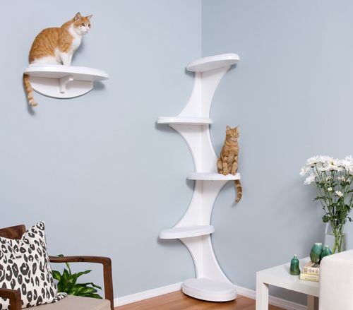 Modern Cat Tower and Shelf from The Refined Feline