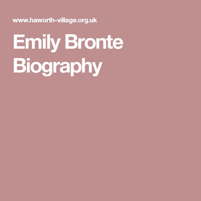 Emily Bronte Biography