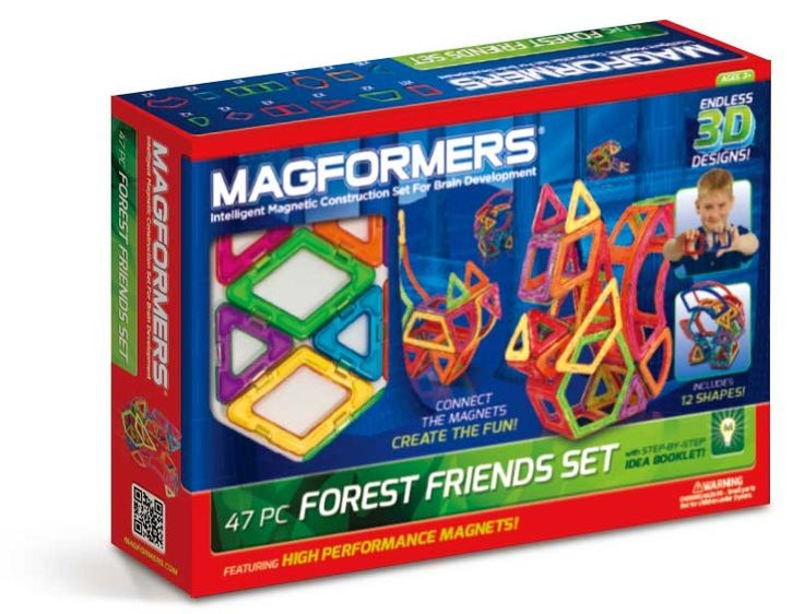 MAGFORMERS FOREST FRIENDS 47PC BOX: Magnetic Construction Set
