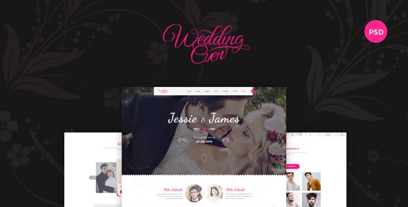 Themenum – Creative PSD Template for Wedding, Events, Wedding Planner and Couple . Wedding (themenum) one / a sleek and clean PSD template with multiple pages. PSD is designed to give all the information for the wedding guests. Site History, Wedding event recording, designed for couples, weddings and all kinds of files are well organized and very easy designs are named