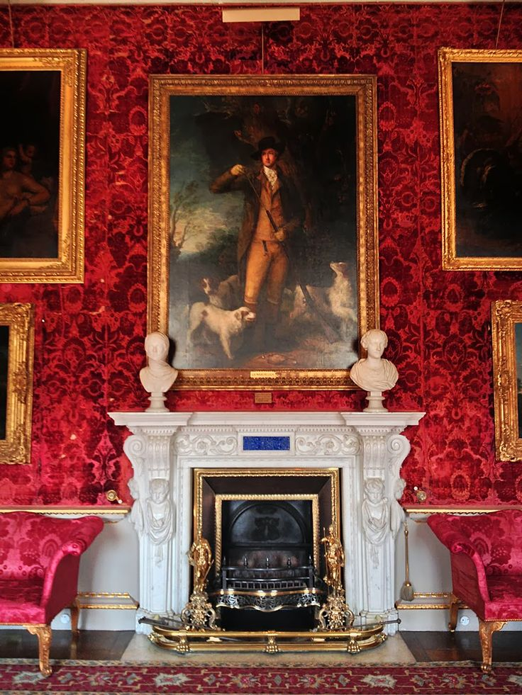 British Estate - Houghton Hall South Dining Room, The centrepiece is Thomas Gainsborough's portrait of Coke of Norfolk.