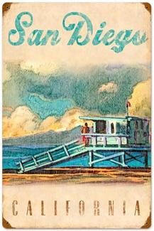 San Diego Beach Poster