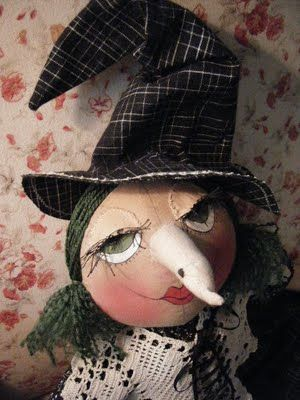 round head cloth witch doll... made by me ~mbr~