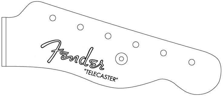 Telecaster headstock google search guitar lover for Stratocaster headstock template