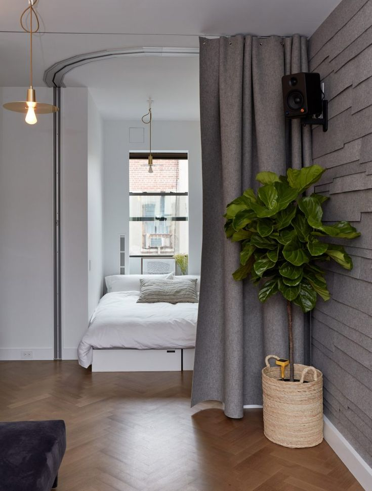 """Tiny New York Apartment by Graham Hill """"works like a double-sized"""""""