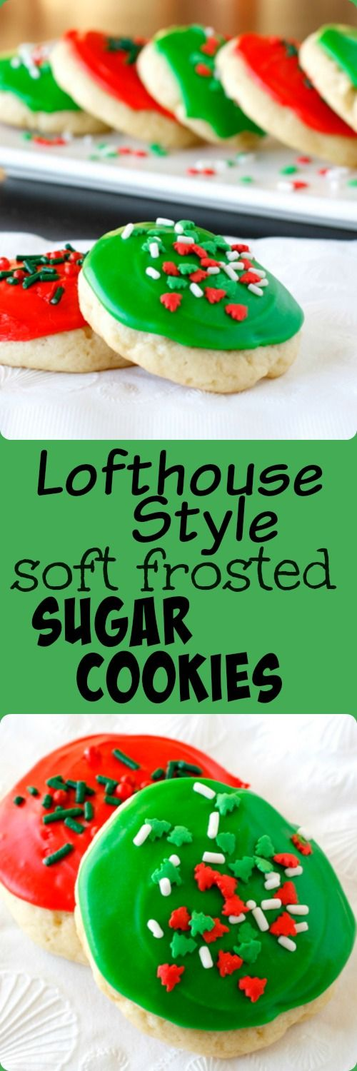 Lofthouse Style Soft Frosted Sugar Cookies - just like those soft sugar cookies you buy in the grocery store! perfect for Christmas!