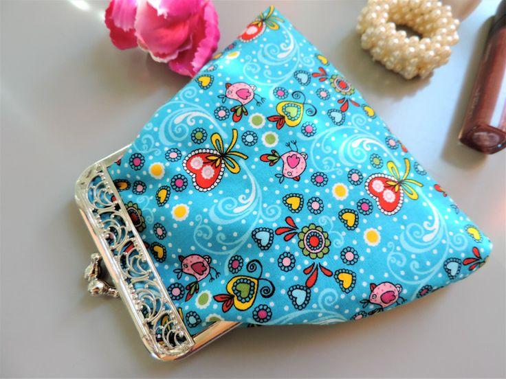 Clipbörsen - Cliptasche mit ornamentalem Bügel - ein Designerstück von Guggarella bei DaWanda