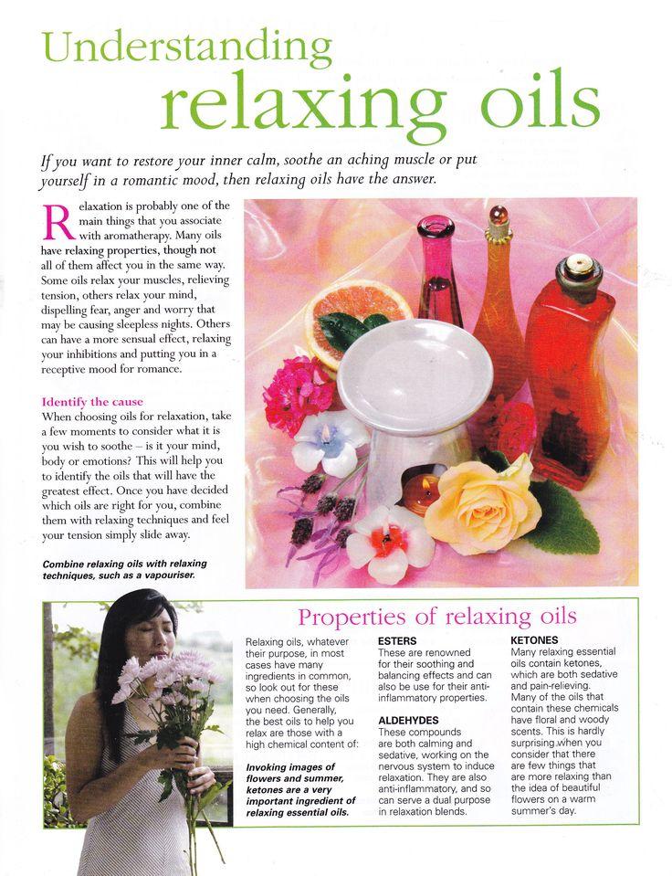 understanding relaxing oils
