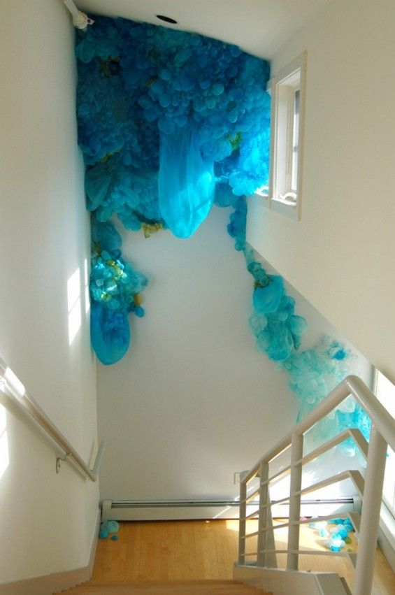 Lisa Kellner's Jellyfish Like Silk Installations