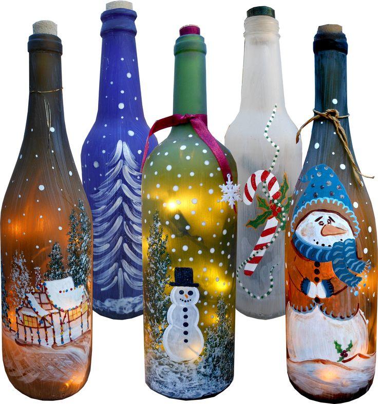 Поделка из стеклянной бутылки на новый год гиалуроновой кислоты