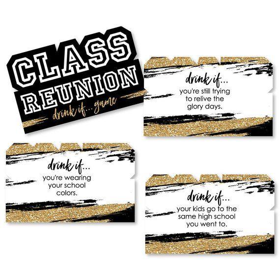 Reunited Drink If Class Reunion Game High School Reunion Etsy Class Reunion Reunion Games High School Reunion