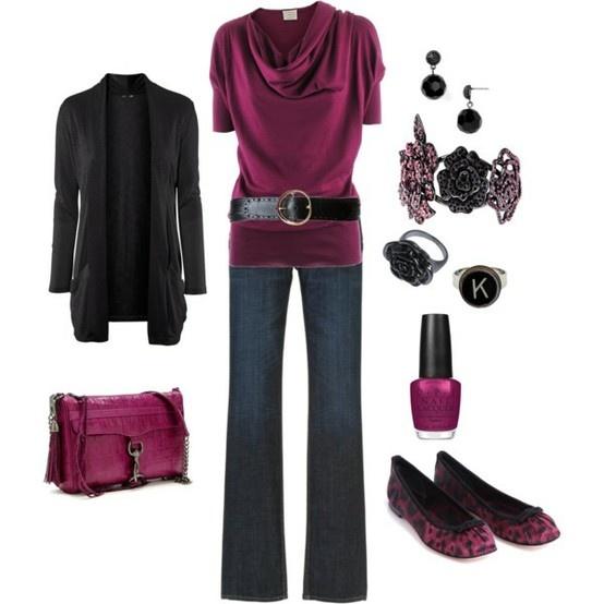 I'd wear this....especially love the cowl neck sweater and OPI nail polish and of course the initial ring ;)