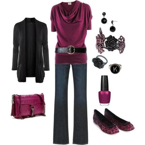 : Fashion, Purple, Style, Dream Closet, Clothes, Black Outfit, Belt, Work Outfits