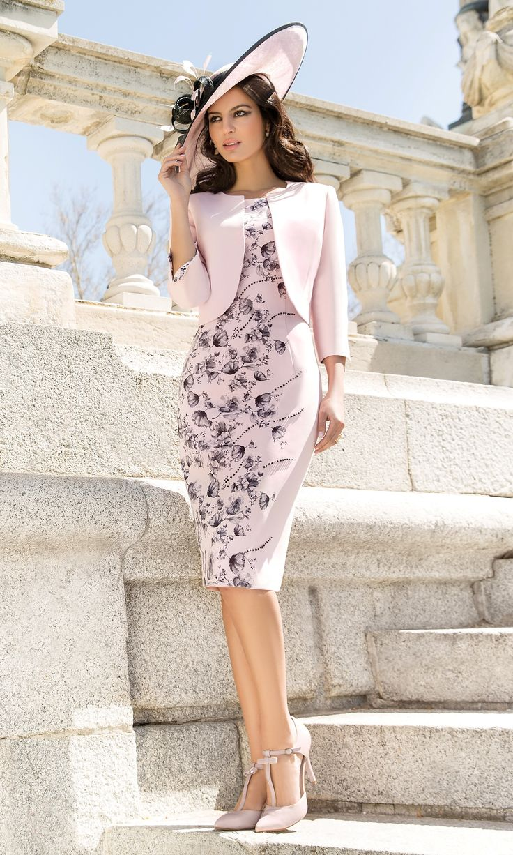 Pink dress and jacket for wedding   best Cosas que ponerse images on Pinterest  Cute dresses For